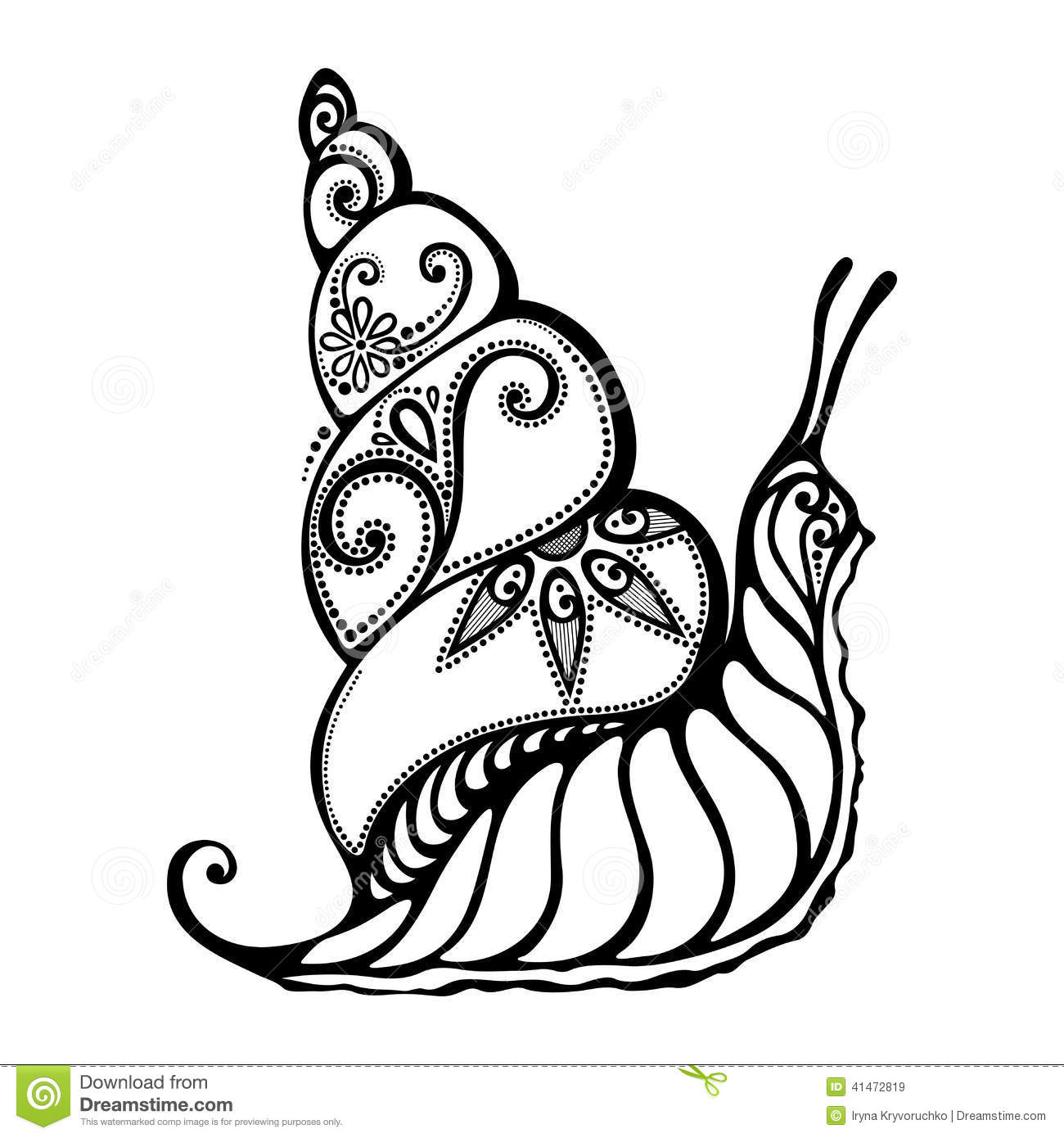 Beautiful Snail Exotic Insect Stock Vector