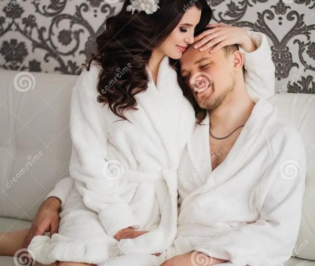 Beautiful Wedding Husband And Wife Lovers Men Women In White Coats