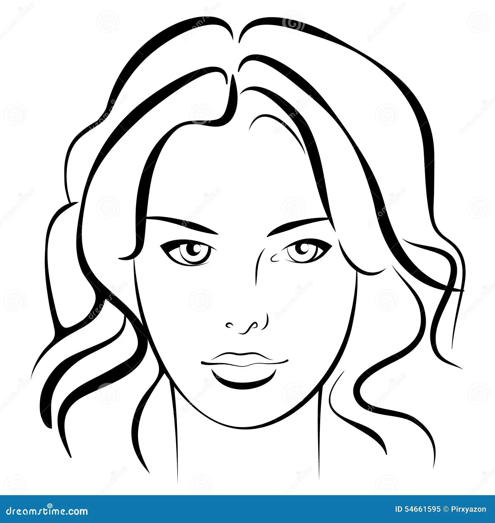 Beauty Girl Fashion Beautiful Woman Face Ink Stock
