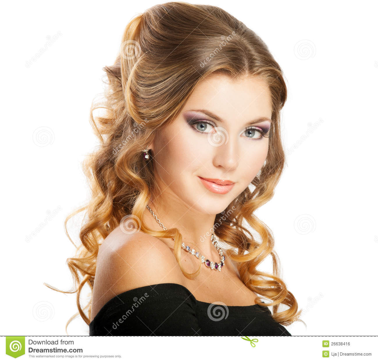 Beauty Hairstyle Stock Photo Image Of Hairdo Looking