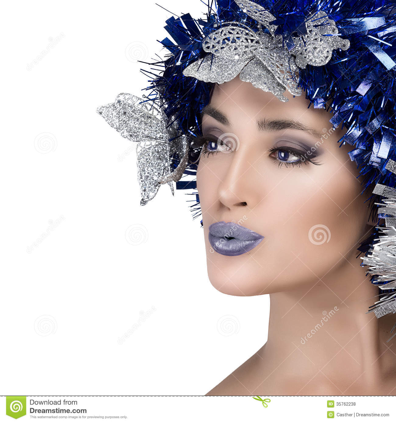 Beauty Woman Portrait With Holiday Hairstyle Vogue Style