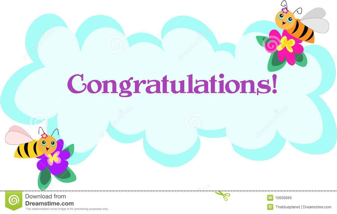 Bee Frame Of Congratulations Stock Illustration