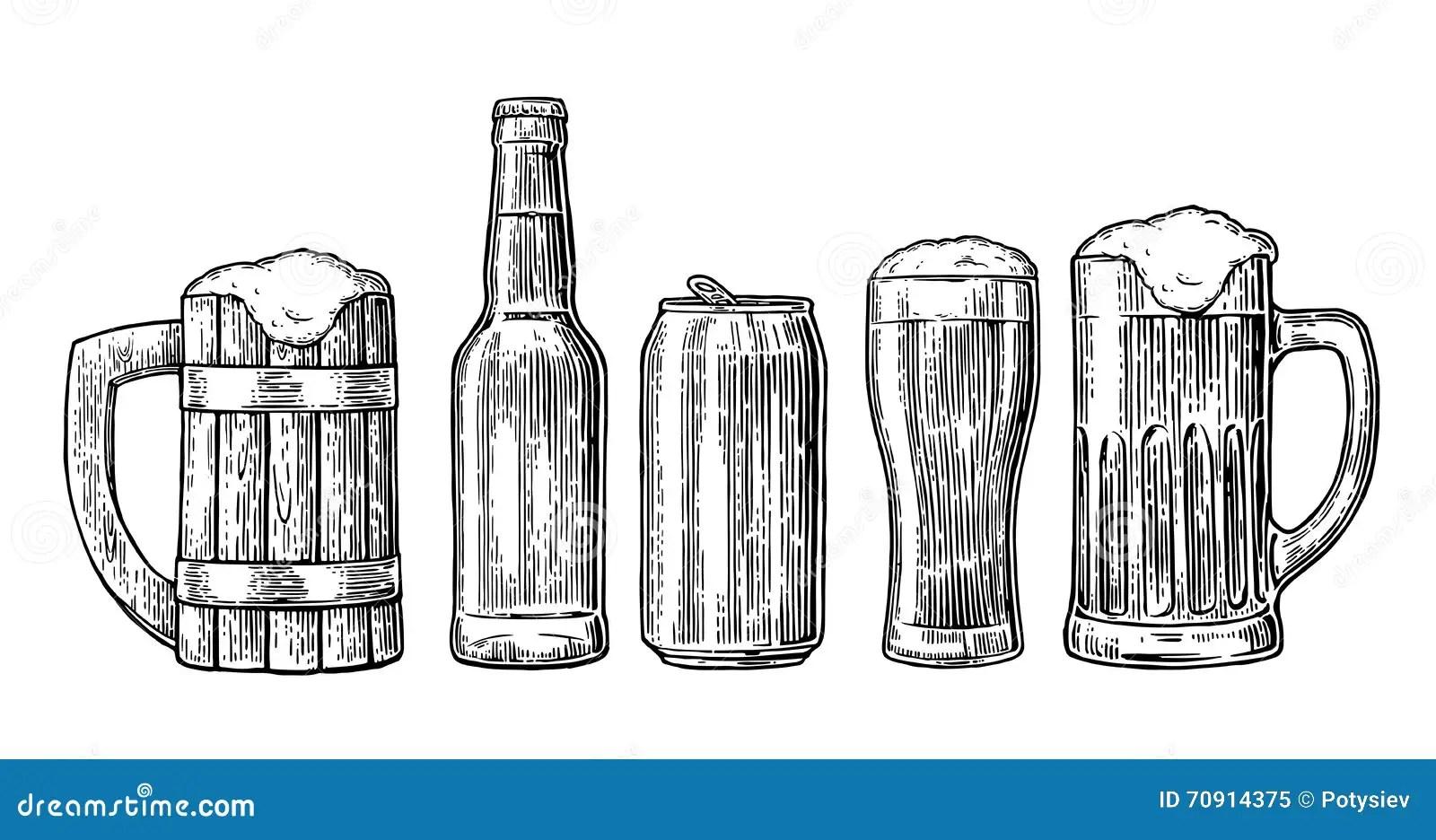 Beer Mug And Bottle On White Background Royalty Free Stock