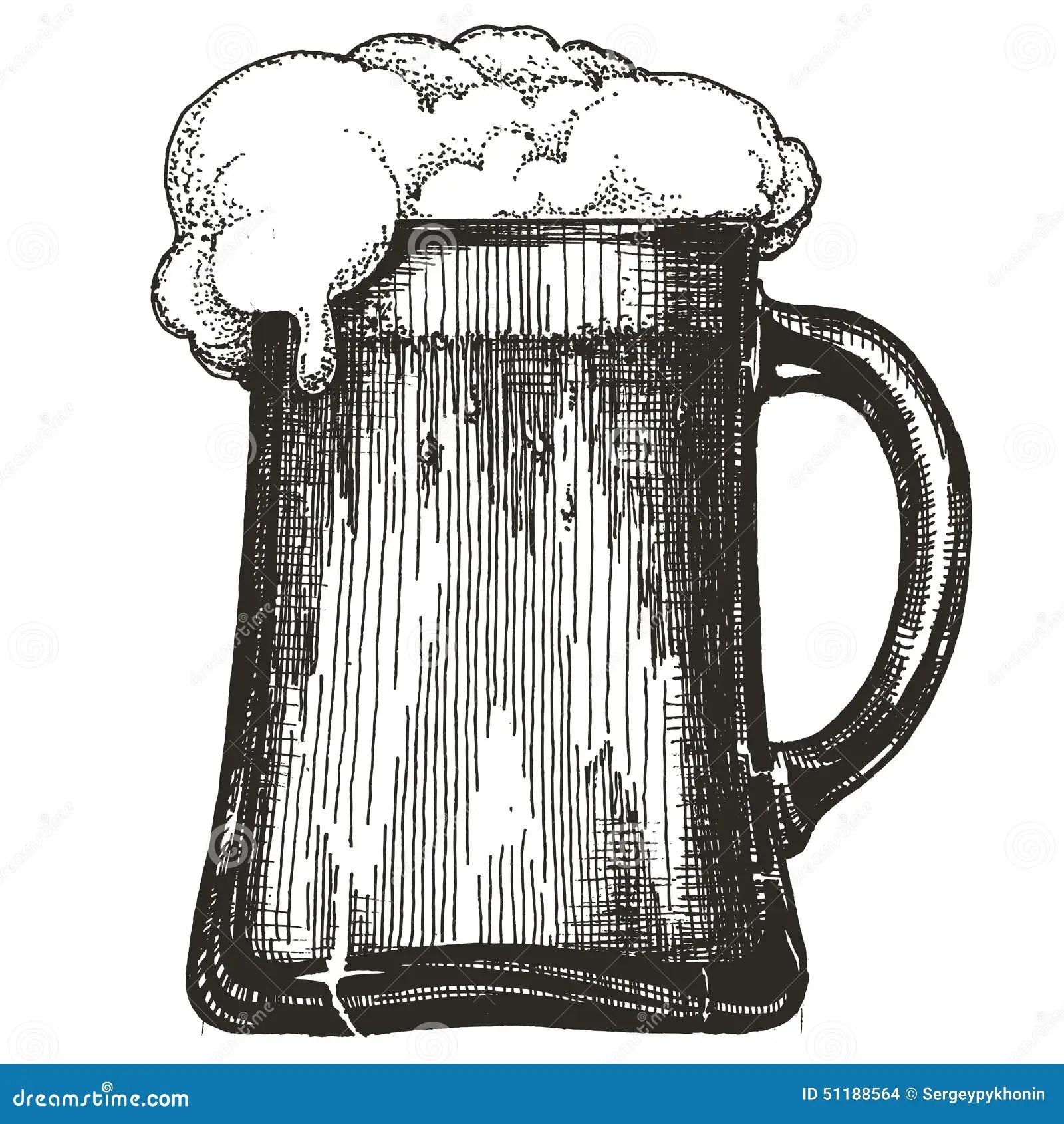 Mug Of Beer Vector Cartoon Vector