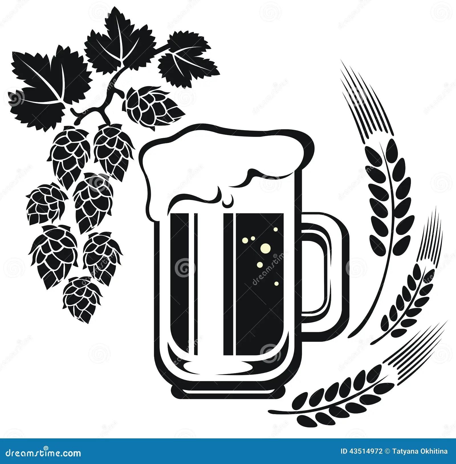 Beer Mug And Wheat Ear Stock Illustration Illustration Of