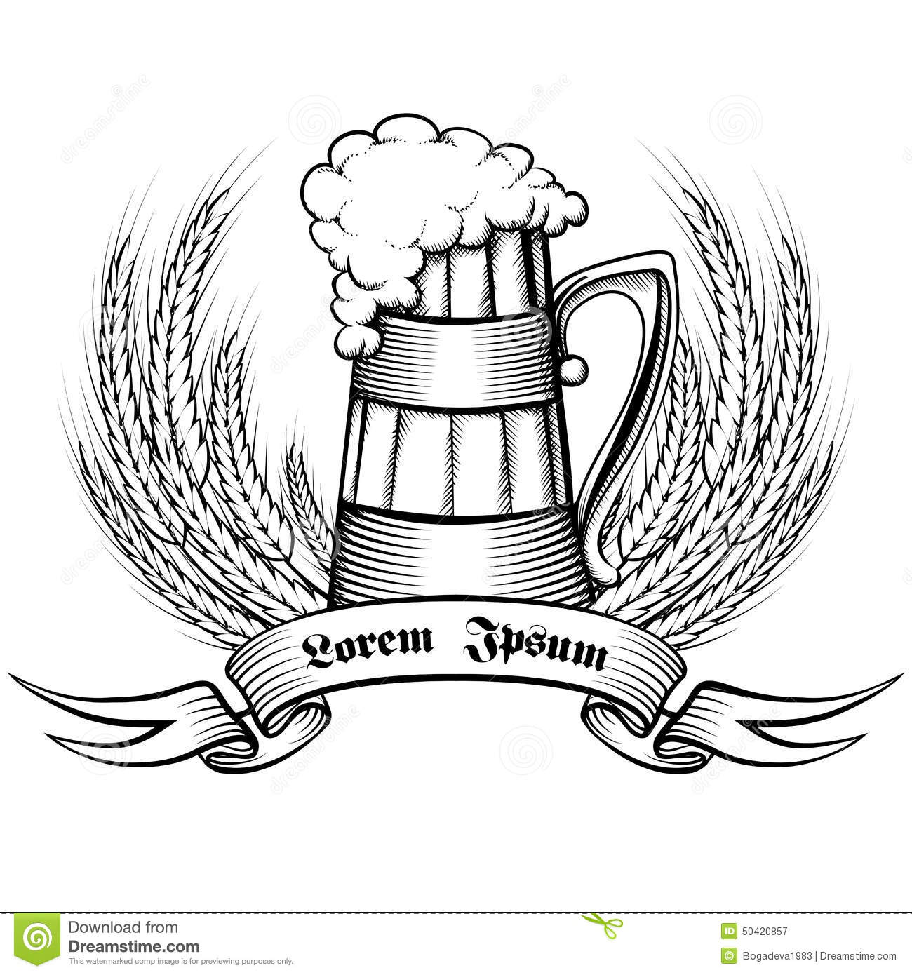 Beer Retro Emblem Stock Vector Image Of Graphic Holiday
