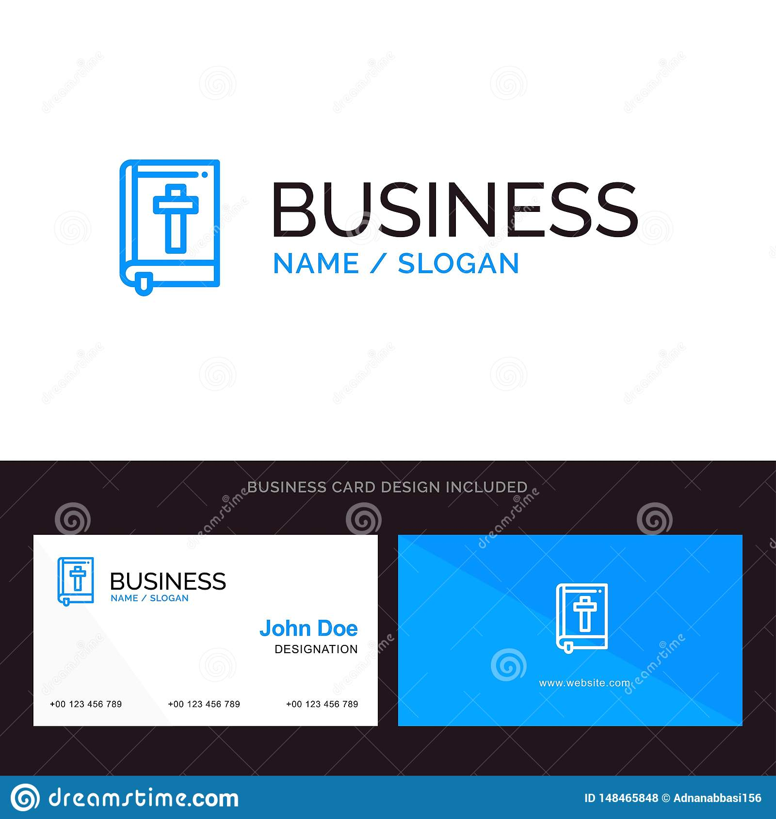 Bible Book Easter Religion Blue Business Logo And