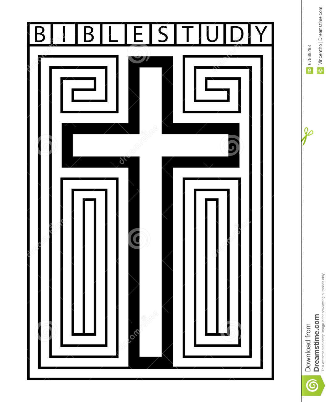 Bible Study Cross Maze Illustration Stock Vector