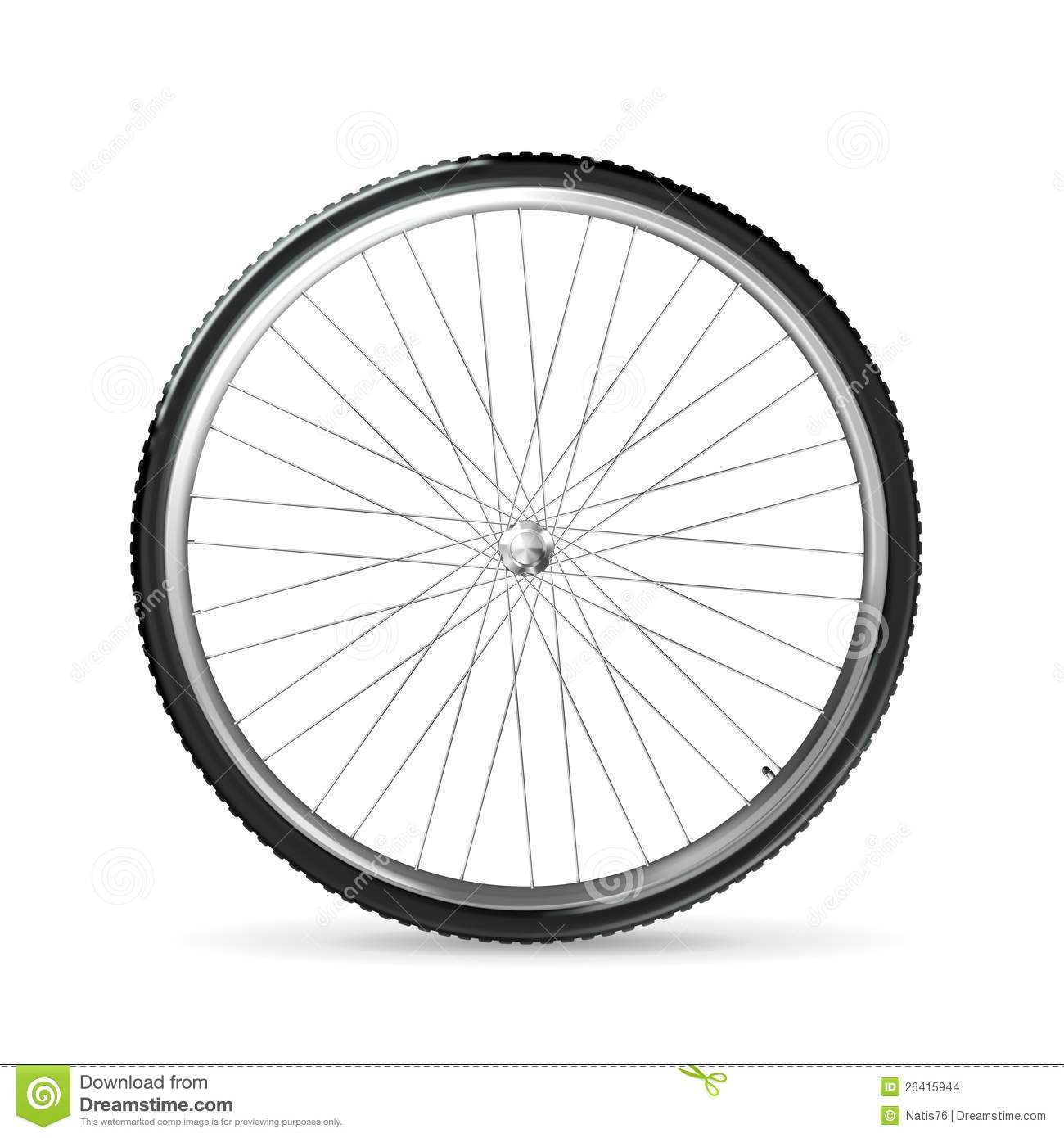 Bicycle Wheel Stock Vector Illustration Of Background