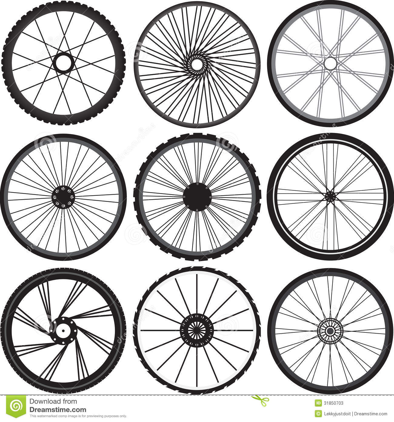 Bicycle Wheels Vector Stock Vector Illustration Of
