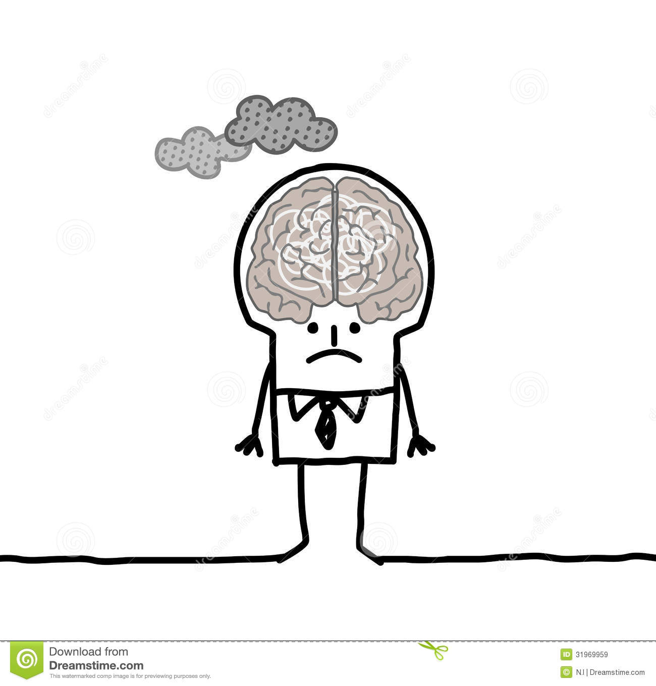 Big Brain Man Amp Pollution Royalty Free Stock Images
