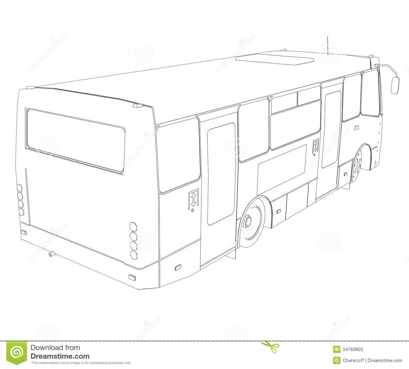 Big Bus Wire Frame Stock Illustration Image Of Speed
