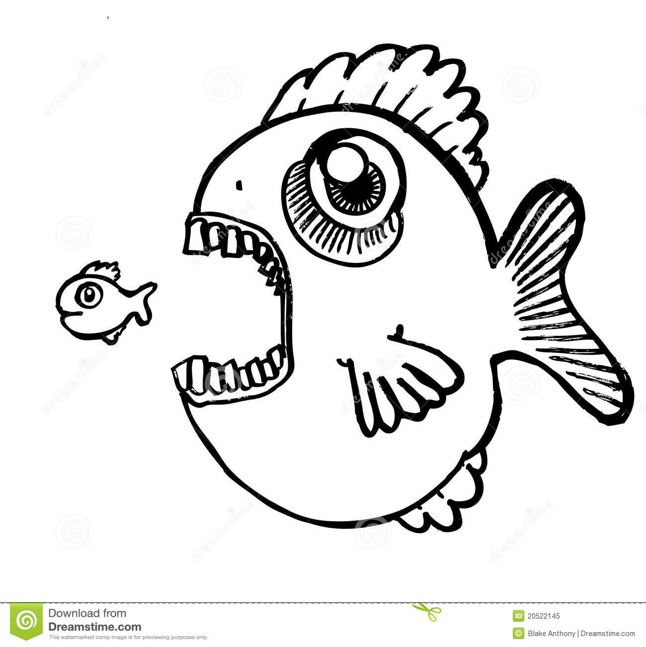 Big Fish Eating Little Fish Stock Vector
