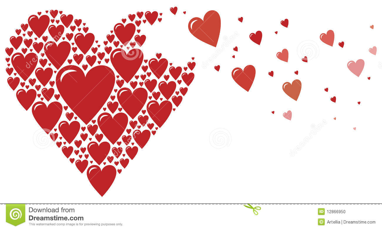 Big Heart Made Of Small Hearts Stock Vector
