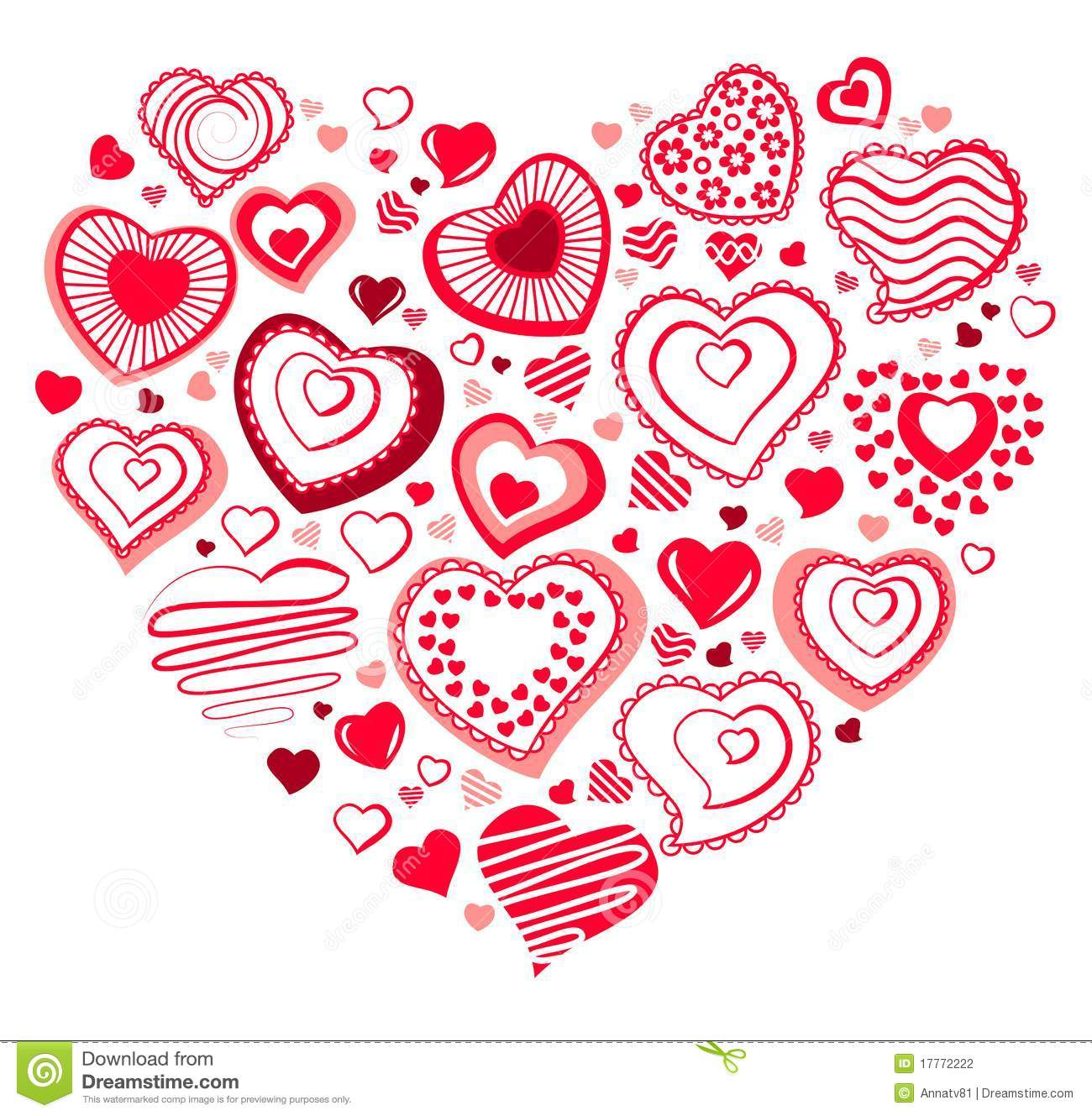 Big Heart Made Of Small Ones Stock Vector