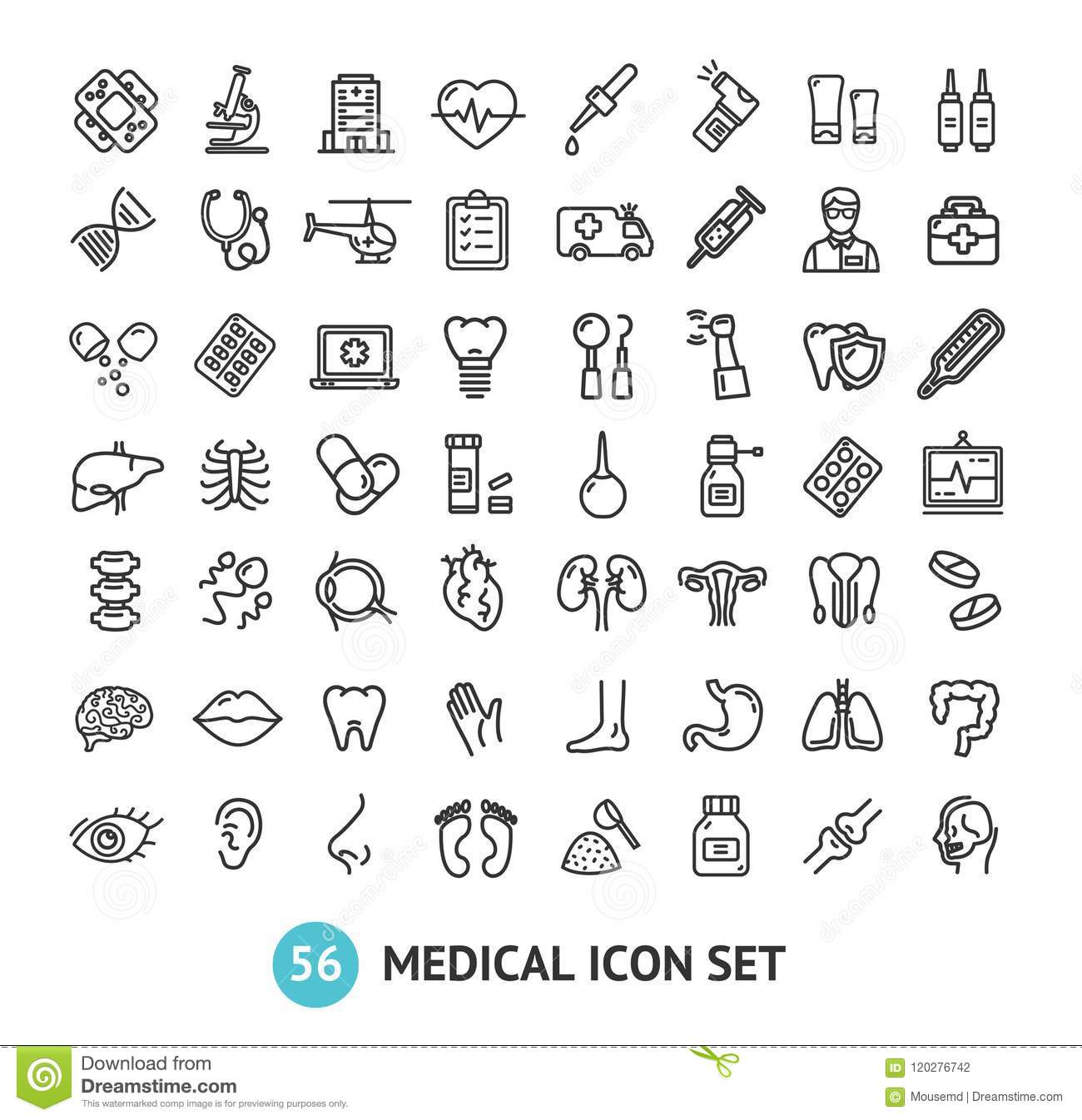 Lung Liver Stomach Capsule Cartoon Vector