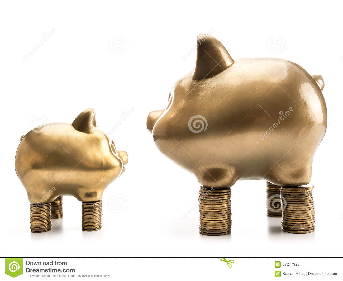 Big Vs Small Stock Image Image Of Stack Rich Powerful