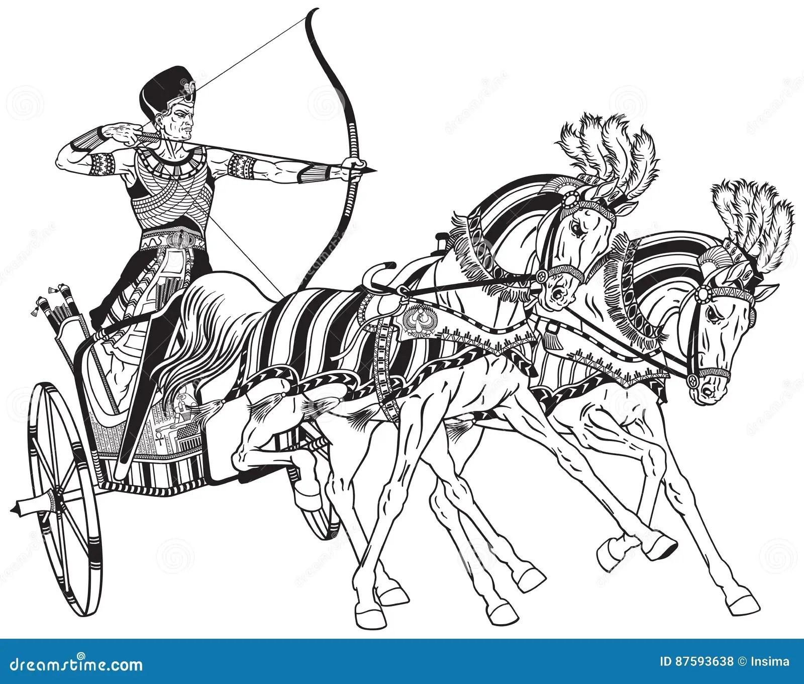 Biga Egiziana Illustrazione Vettoriale Illustrazione Di
