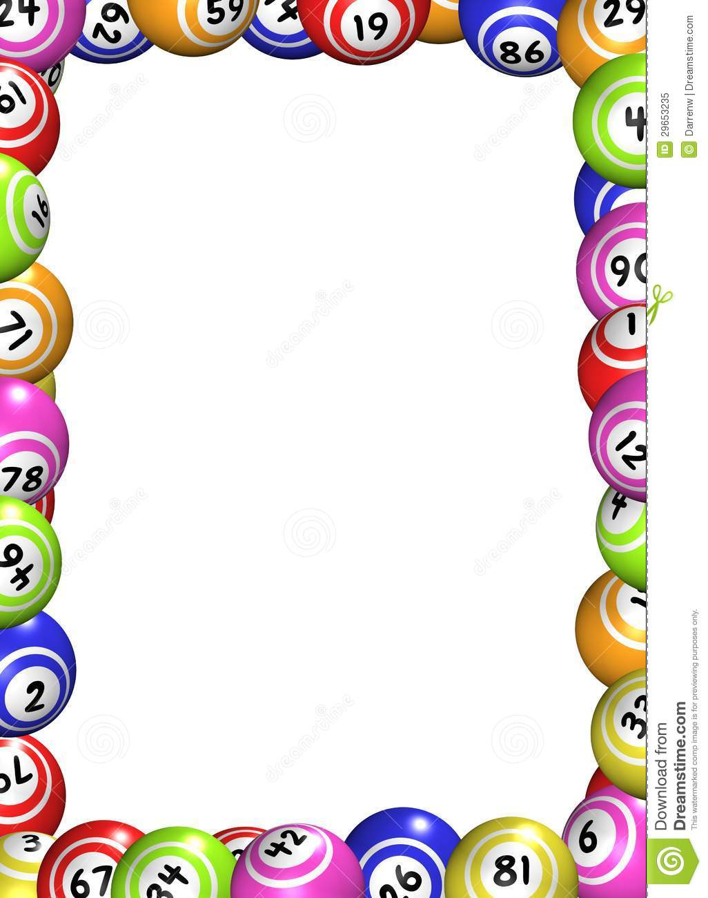 Bingo Balls Frame Stock Illustration Illustration Of Game