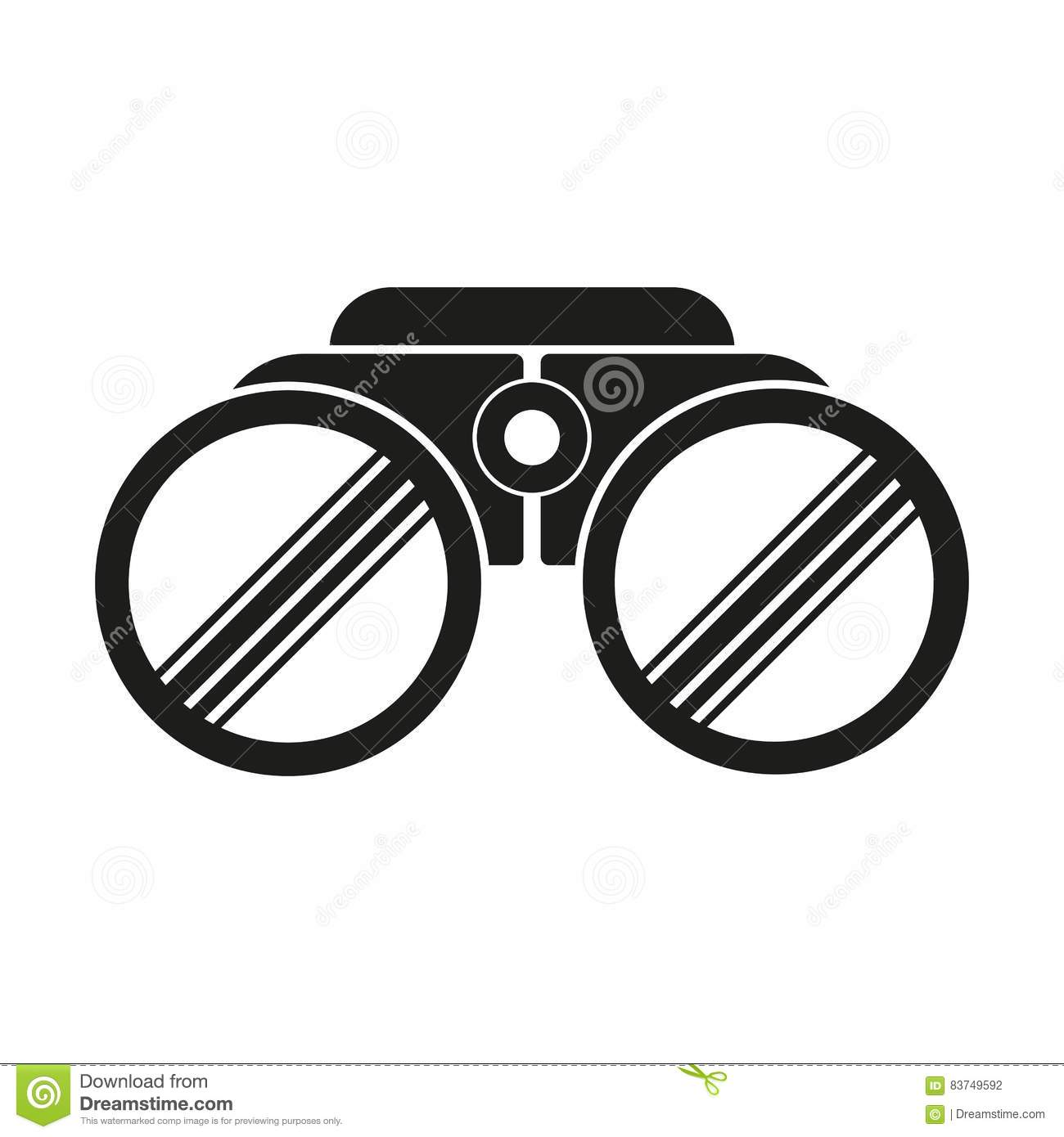 Binoculars Vector Icon Stock Vector Illustration Of Zoom