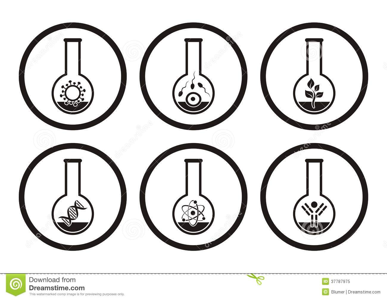 Biology Icons Stock Vector Image Of Biochemistry Genome