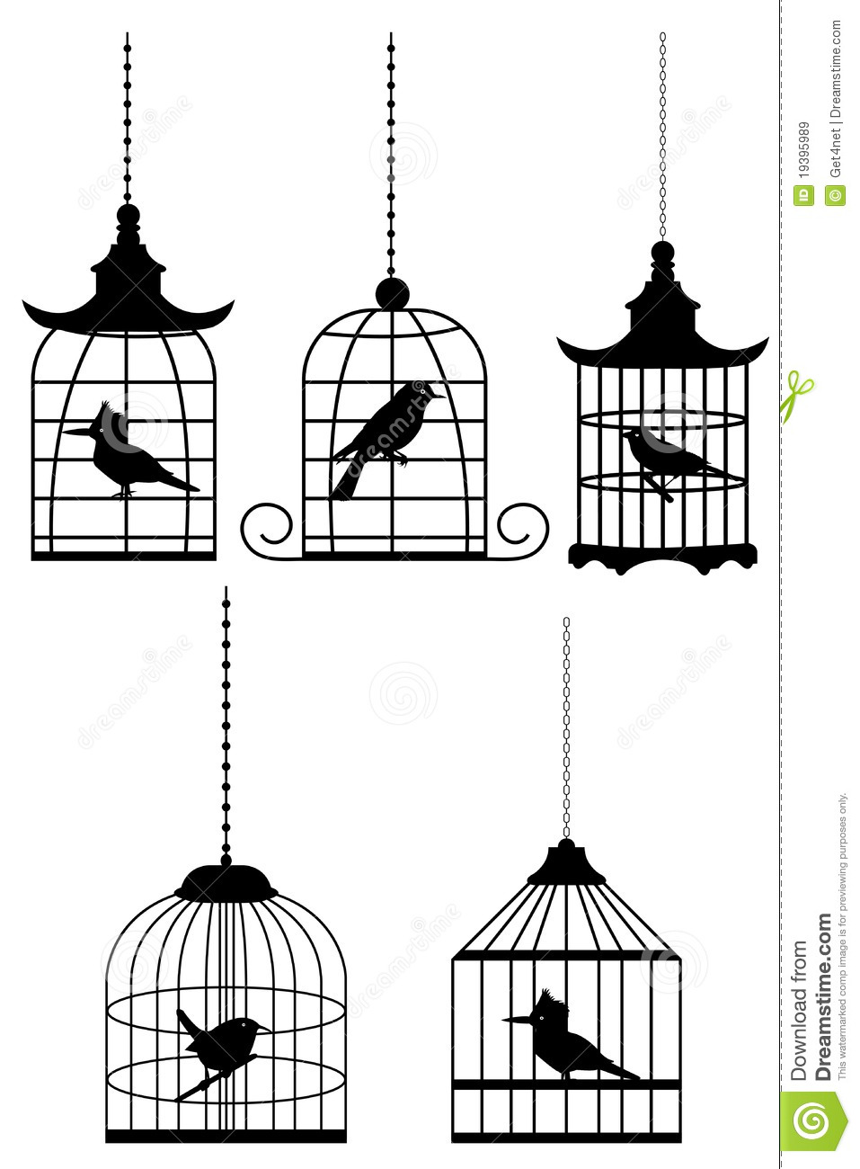 Bird In Cage Royalty Free Stock Images Image 19395989