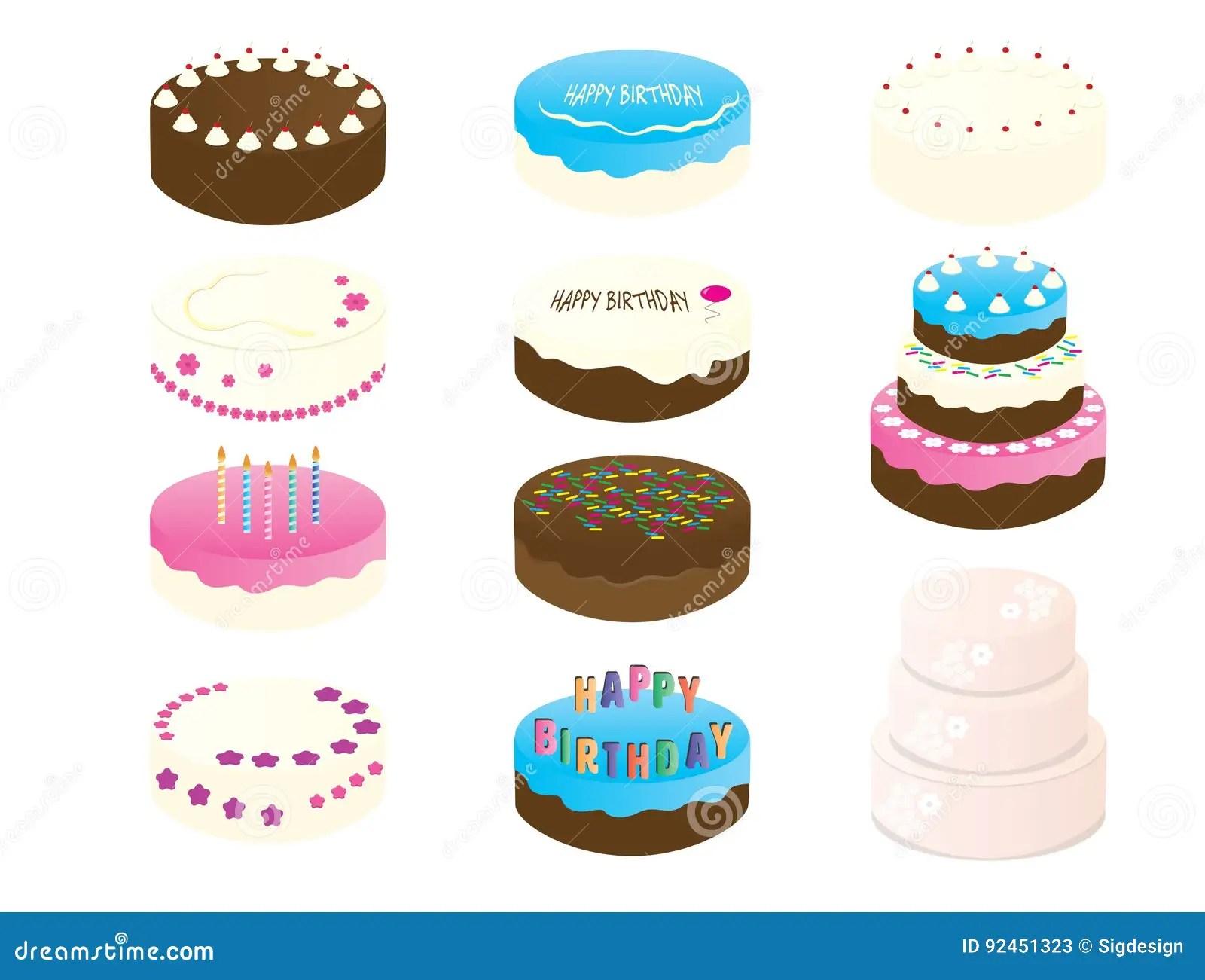 11 Birthday Cake Clip Arts Stock Vector Illustration Of Cakes 92451323