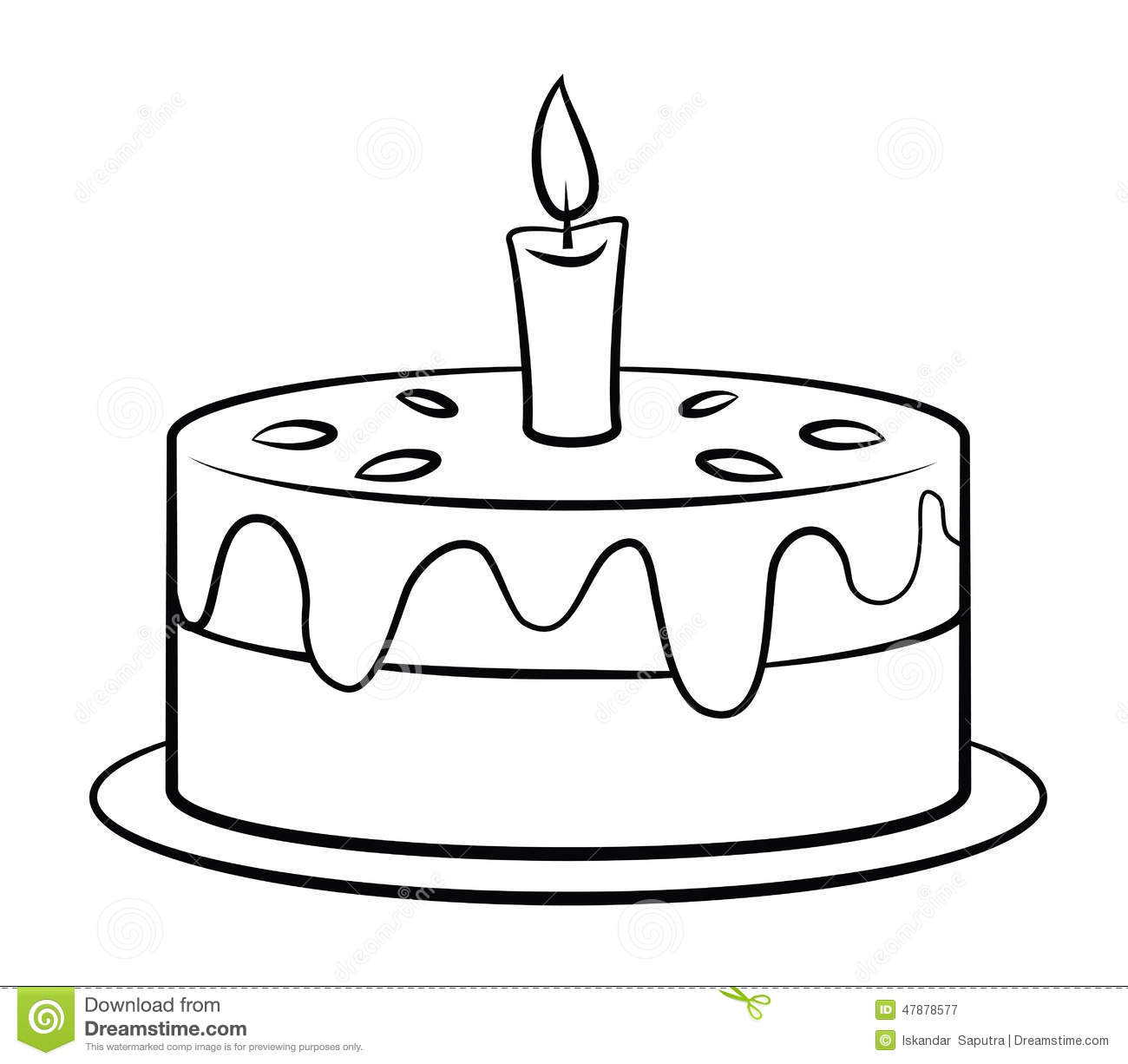 Birthday Cake Stock Vector Illustration Of Black Style