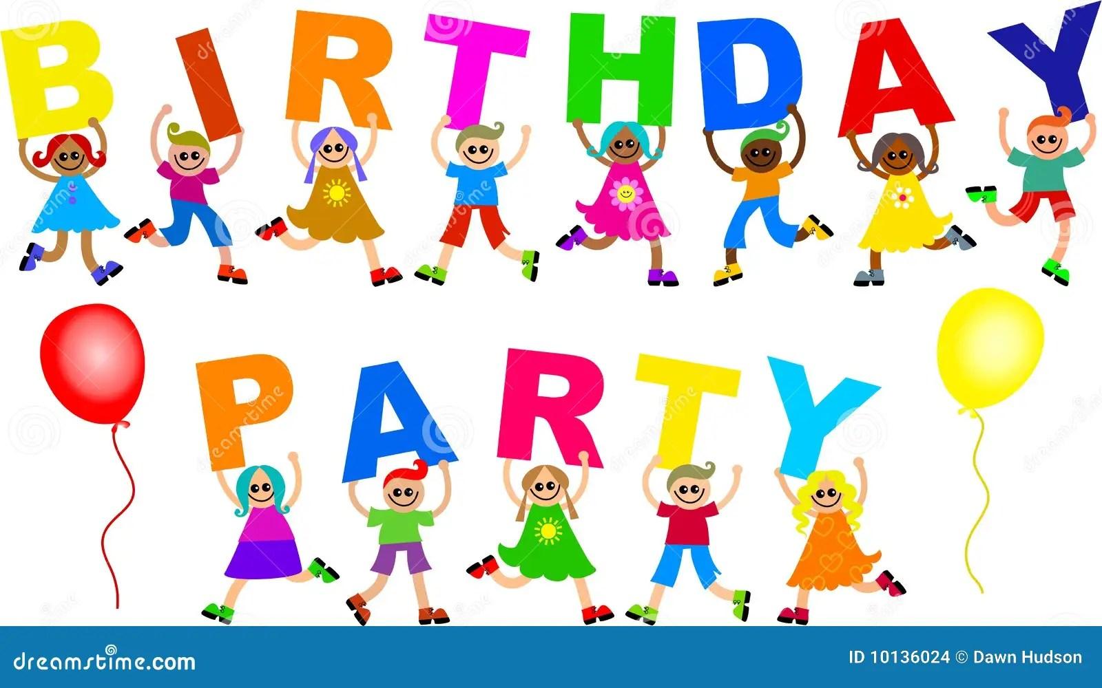 Birthday Party Stock Illustration Illustration Of Diverse 10136024