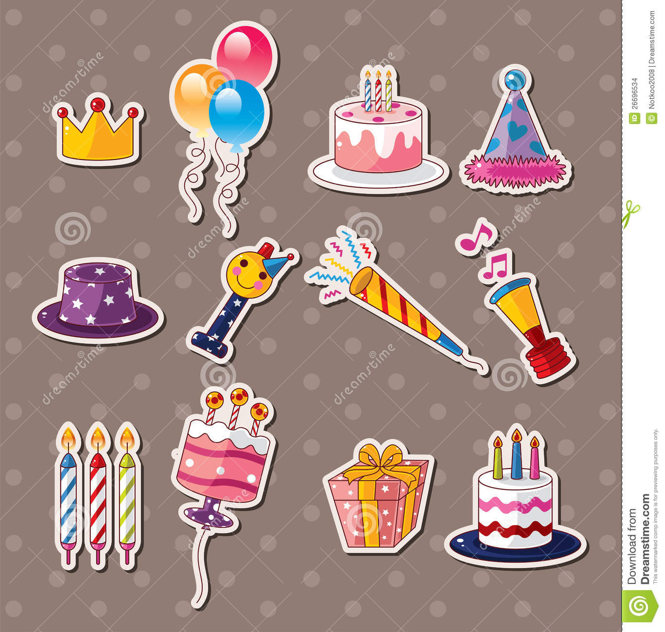 Birthday Stickers Stock Images Image 26696534