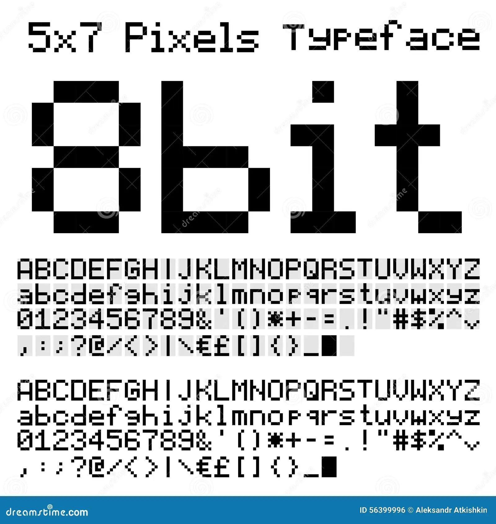 8 Bit Font Stock Vector Illustration Of Micro Gaming