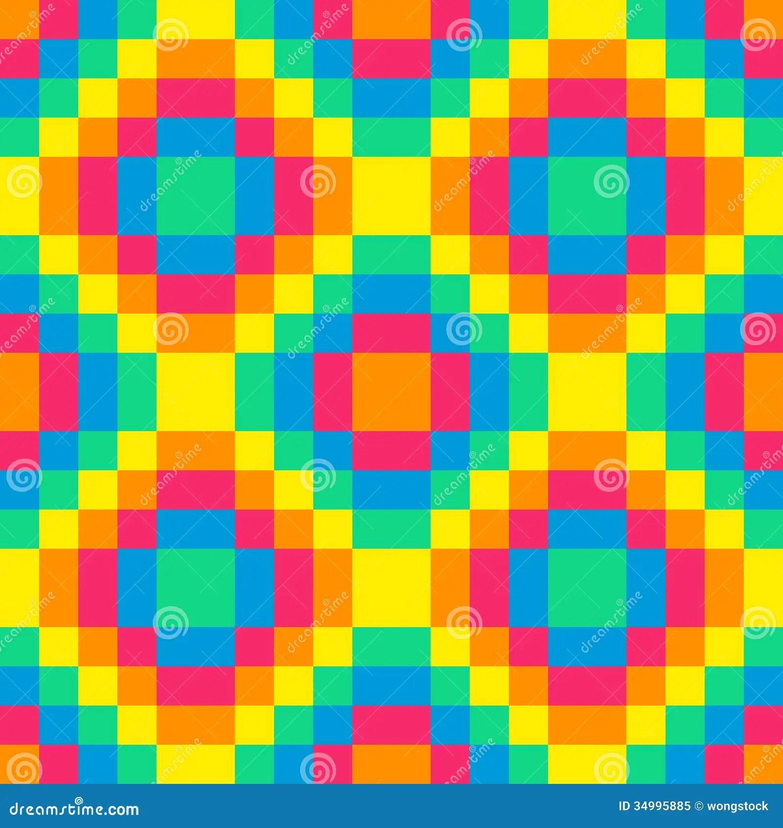 8 Bit Seamless Rainbow Diamond Pattern Background Tile Stock Image