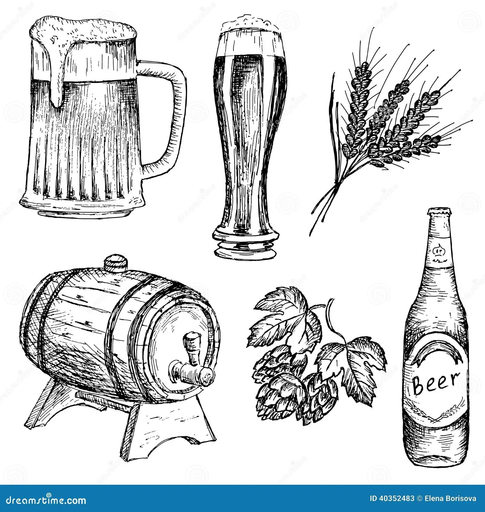 Bitter Beer Stock Vector Illustration Of Lunch Liquid