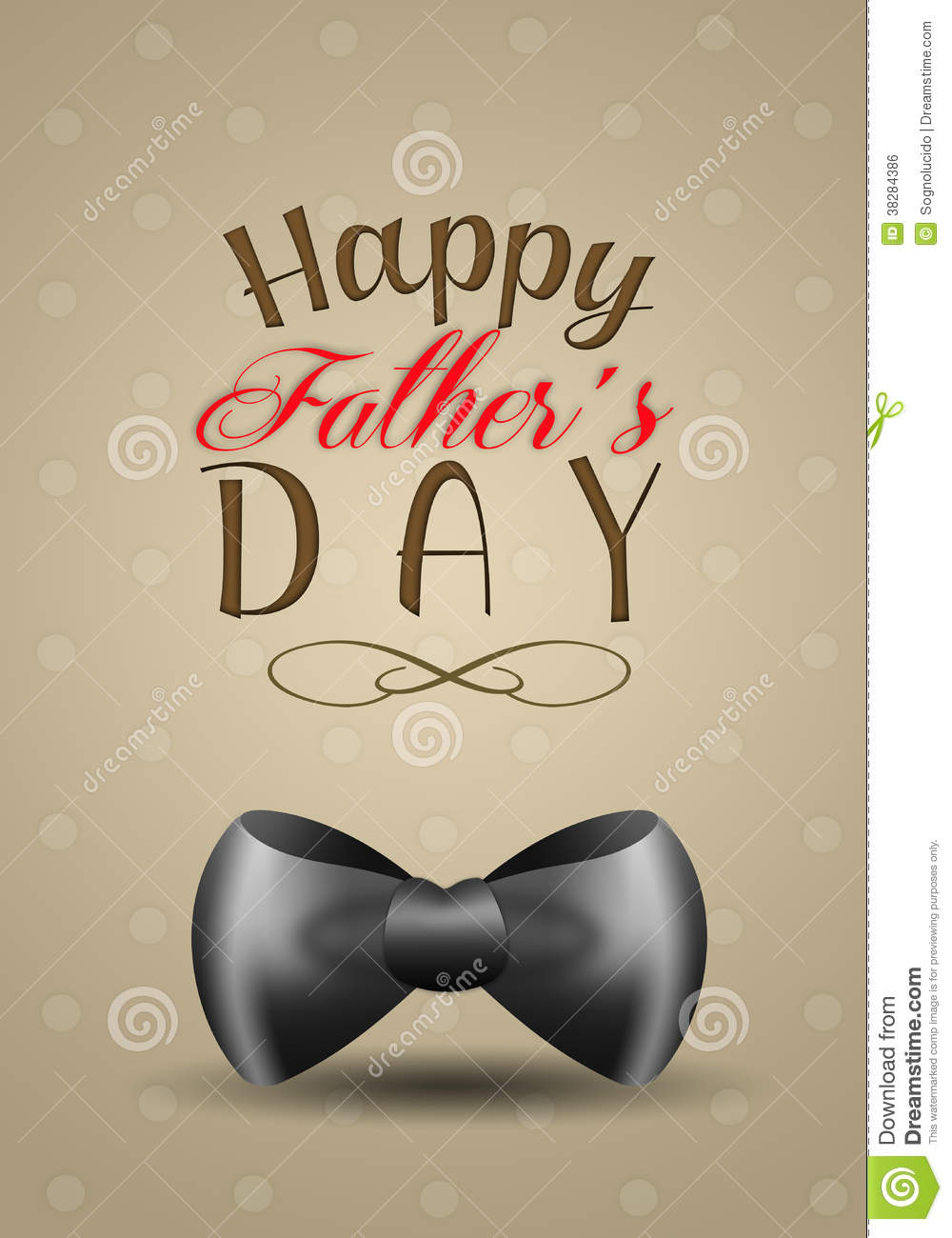 Black Bow Tie For Fathers Day Royalty Free Stock Image