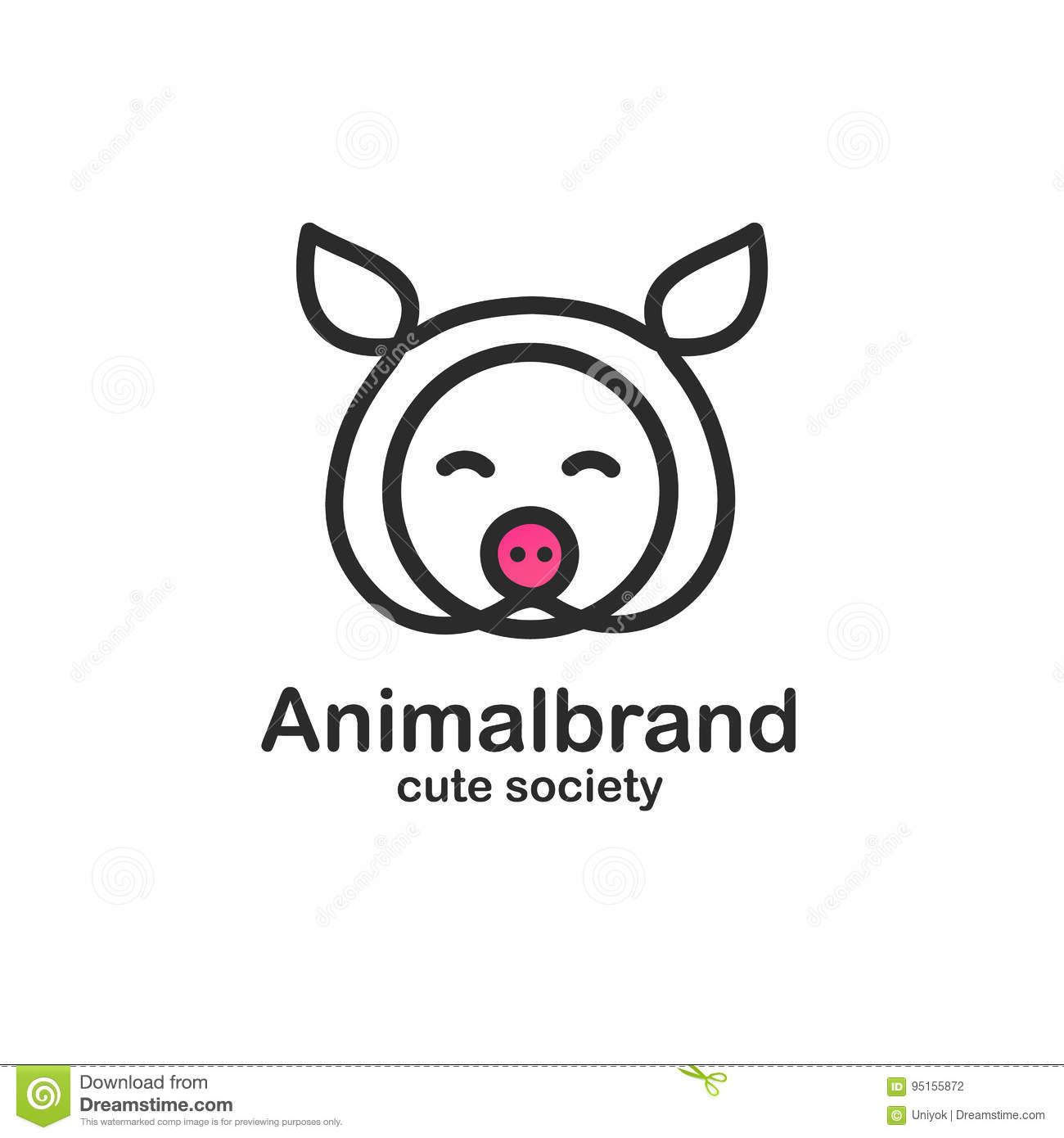 Cute Piglet Snout Stock Illustrations 799 Cute Piglet