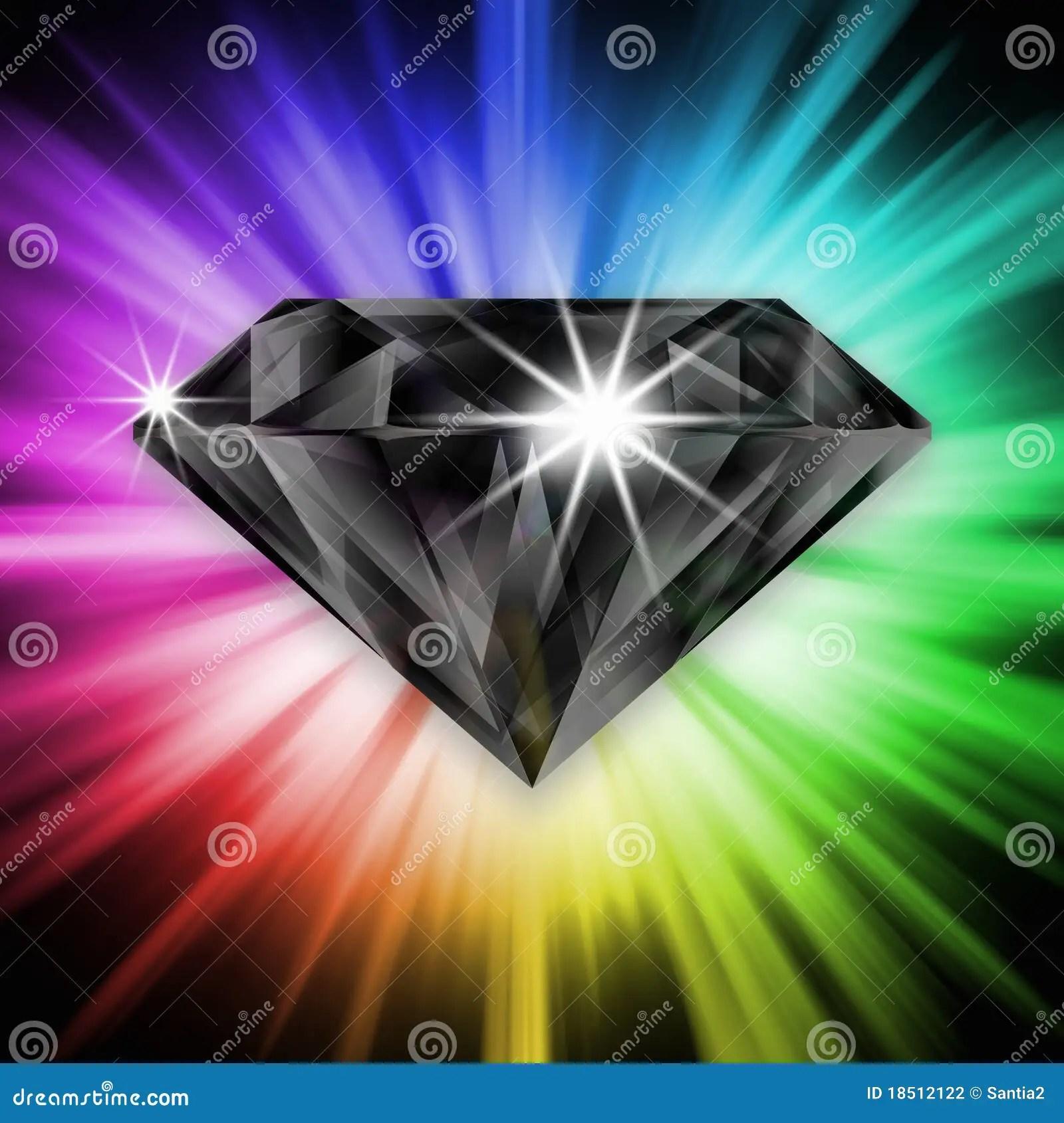 Black Diamond Over Rainbow Stock Photography Image 18512122