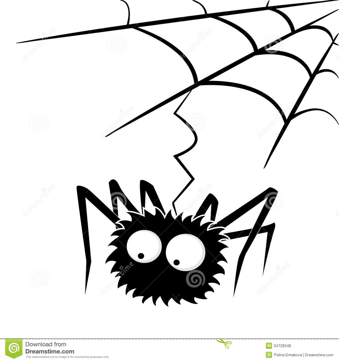 Black Halloween Spider With Web Royalty Free Stock Photos