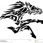 Black Horse Stock Vector Illustration Of Beautiful Arabian 45948161