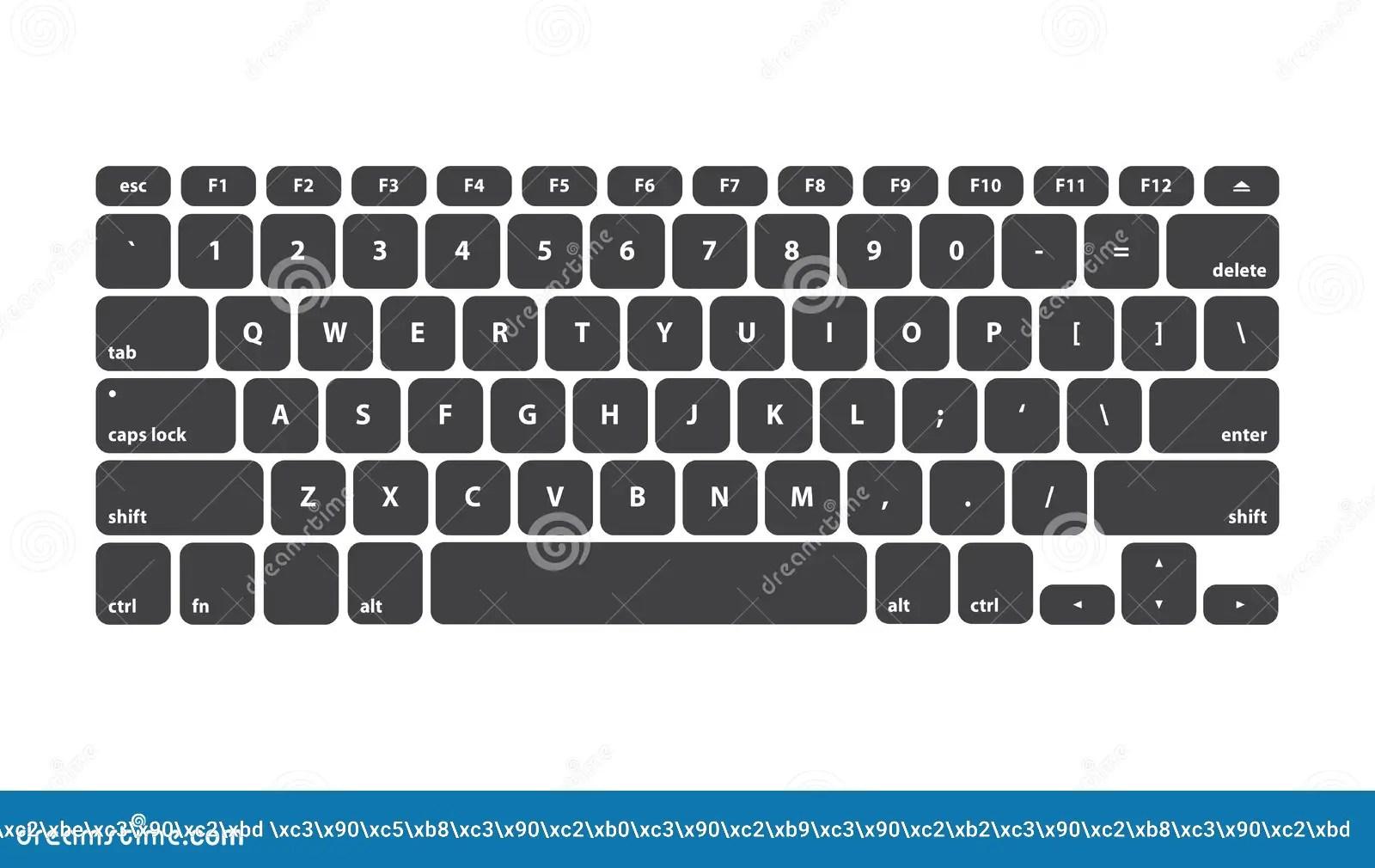 Black Keyboard Stroke Qwerty