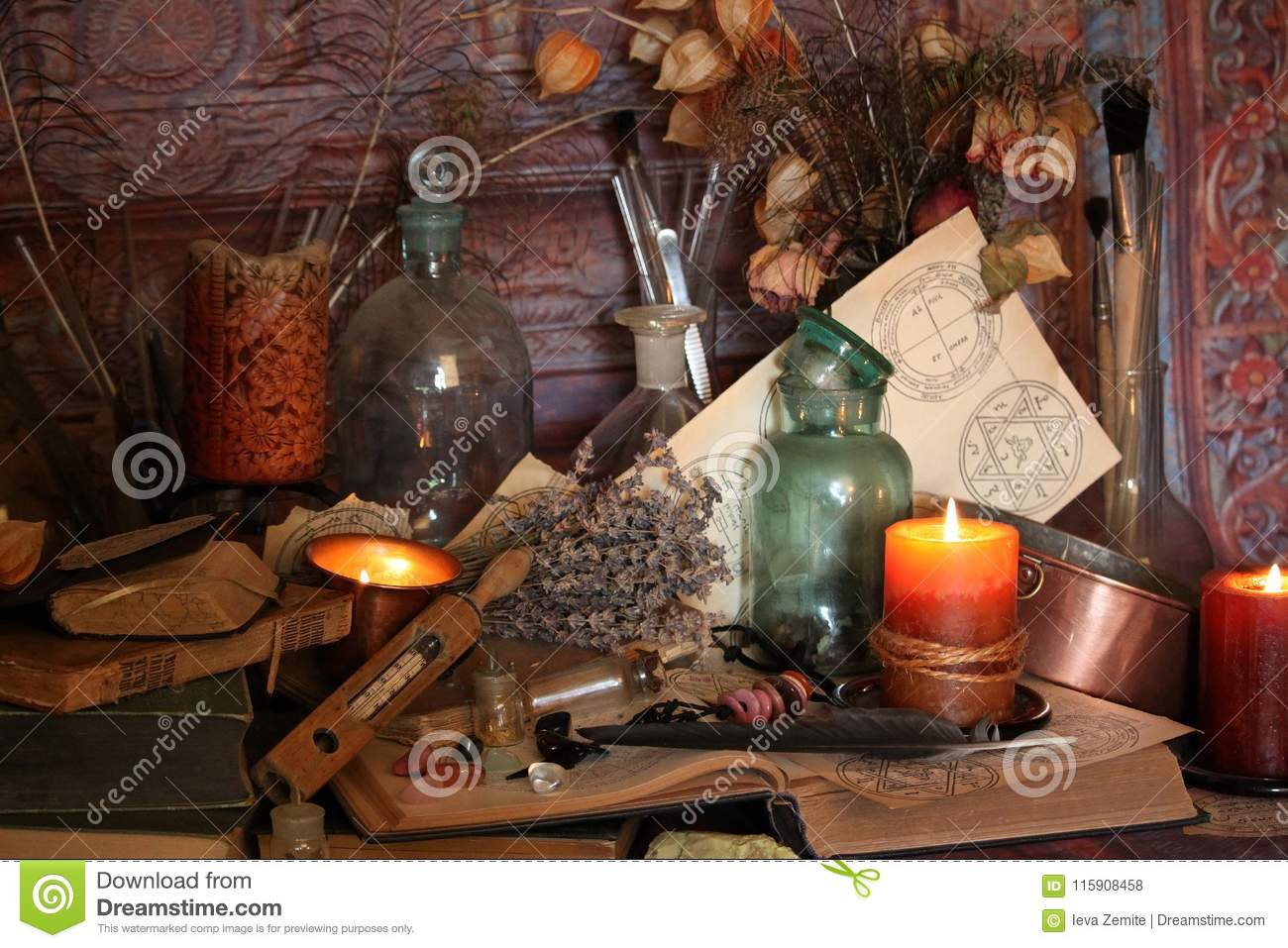 Black Magic Spells  Wiccan Spells  Stock Photo   Image of magic     Download Black Magic Spells  Wiccan Spells  Stock Photo   Image of magic   amulet