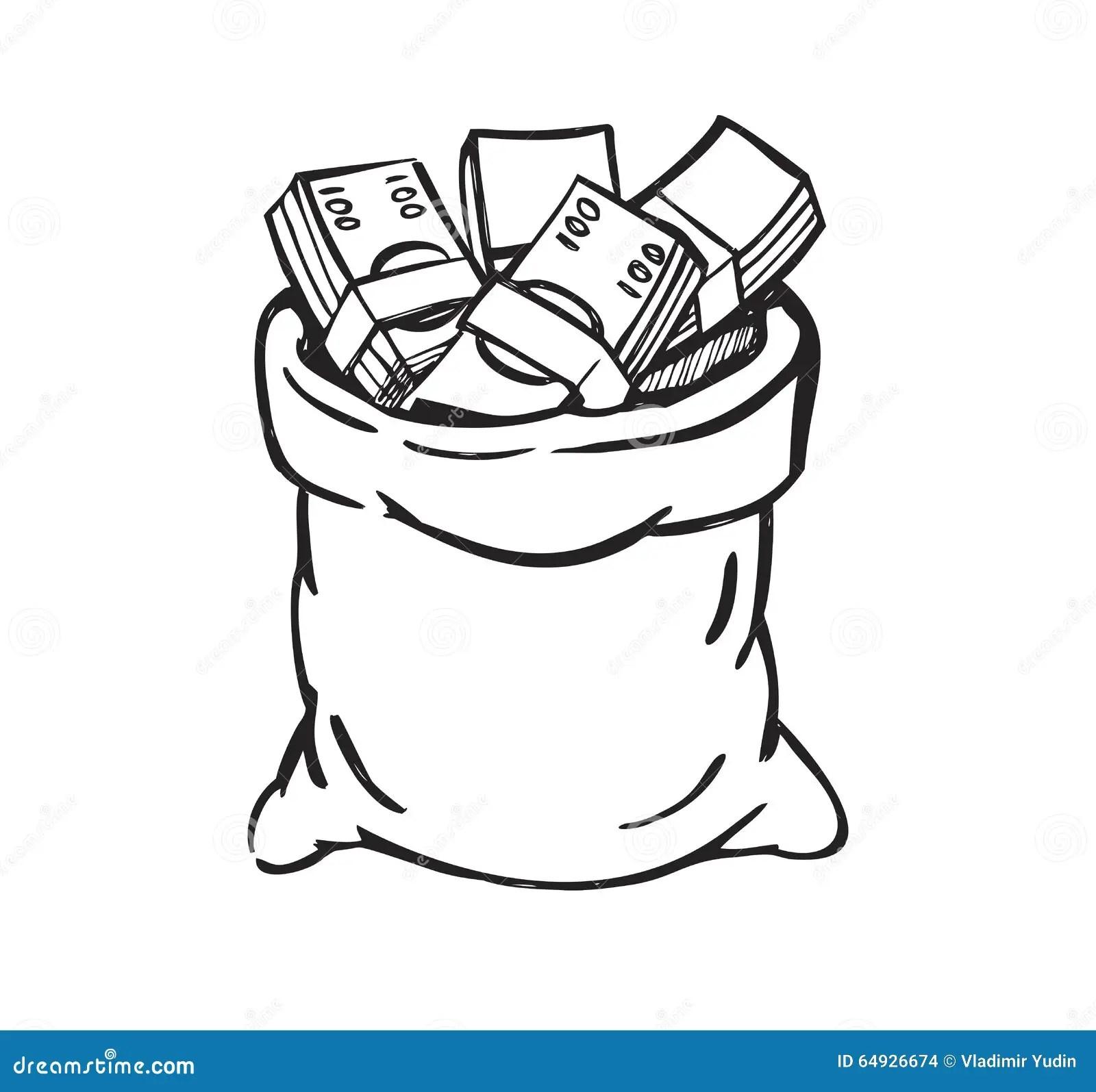 Black Money Bag Stock Vector Illustration Of Lottery