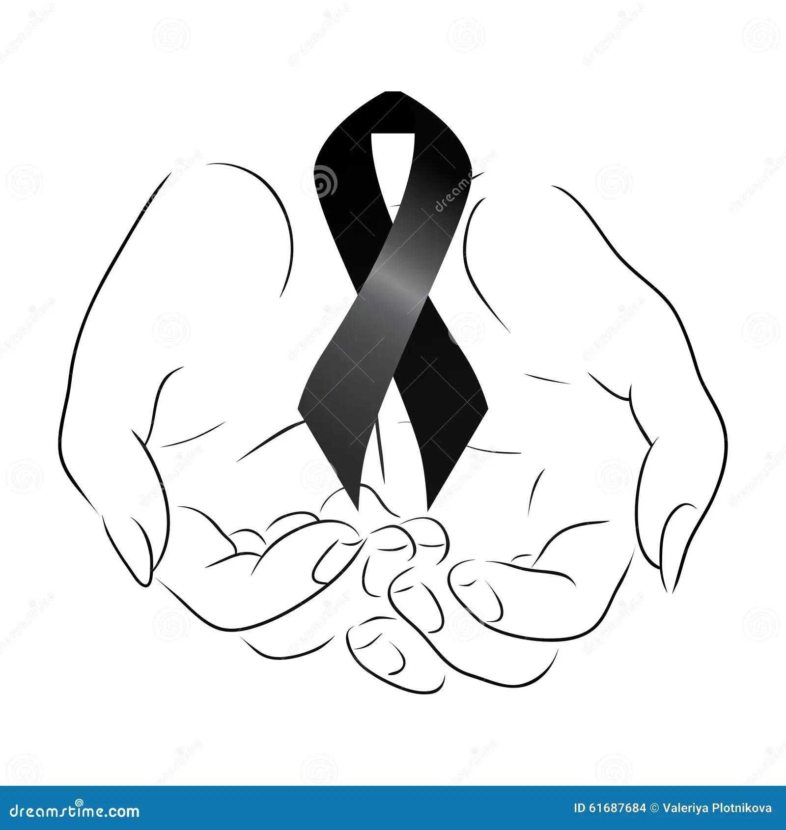 Black Mourning Ribbon Royalty Free Stock Photography