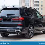 Black New Bmw X7 Xdrive40i 2019 Year Rear View With Lifht Gray Interior On Parking In The Street Editorial Stock Photo Image Of Business Comfort 154257893
