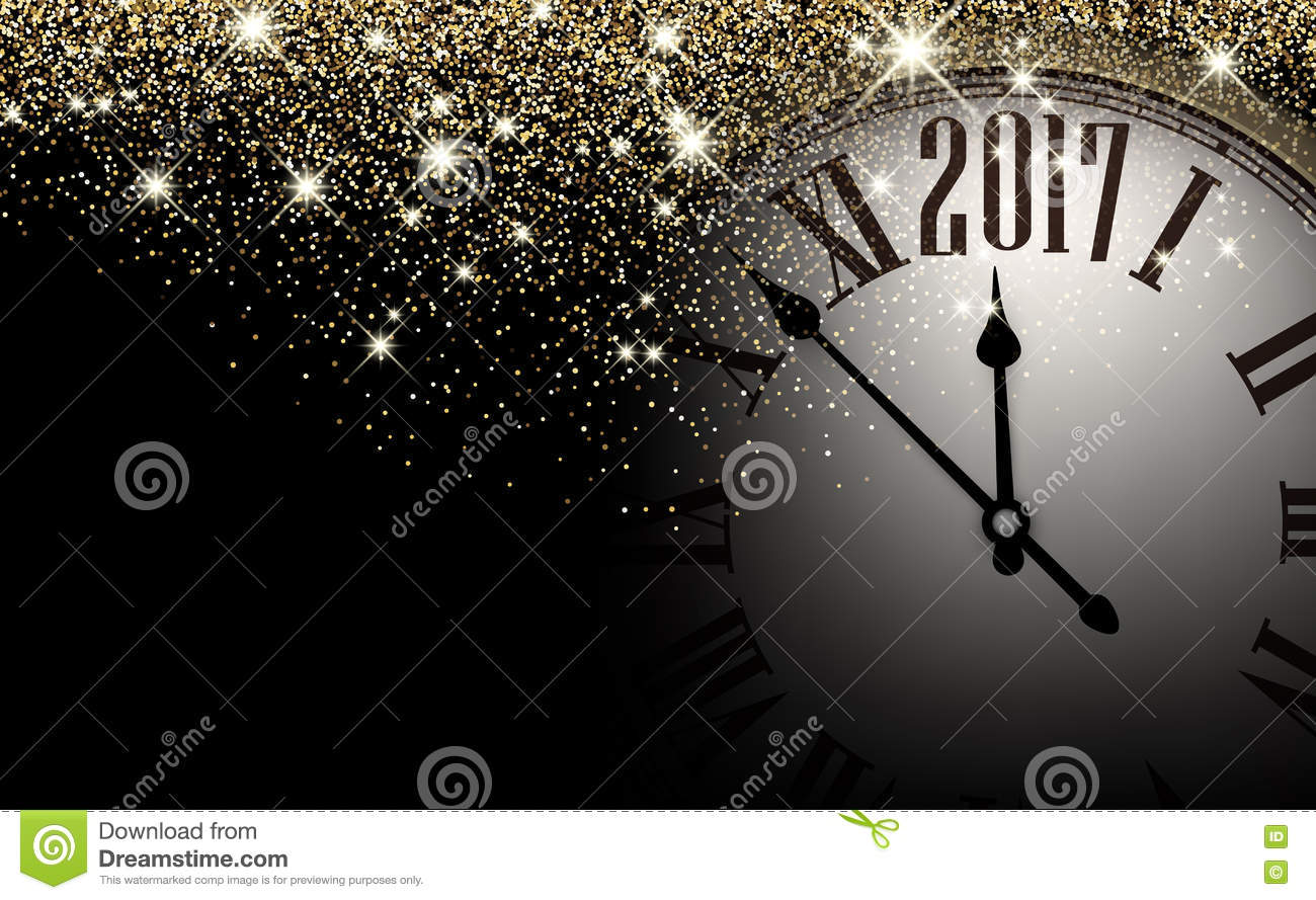 Black 2017 New Year Clock Background  Stock Vector   Illustration of     Download Black 2017 New Year Clock Background  Stock Vector   Illustration  of sand  clock