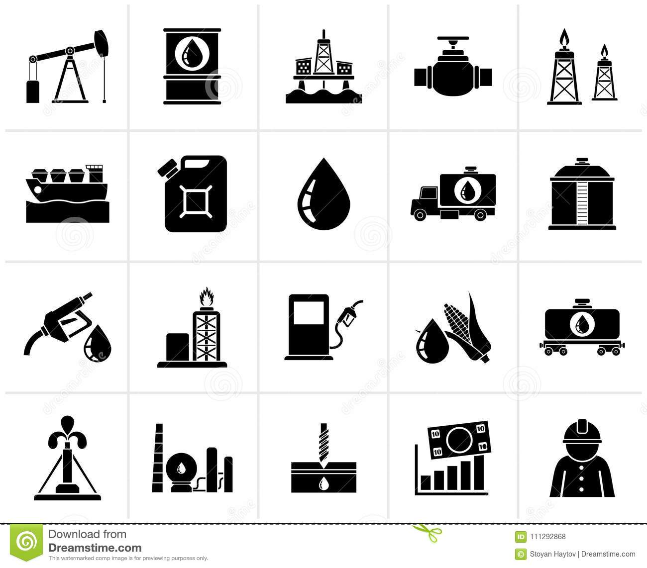 Black Oil Industry Gas Production Transportation And