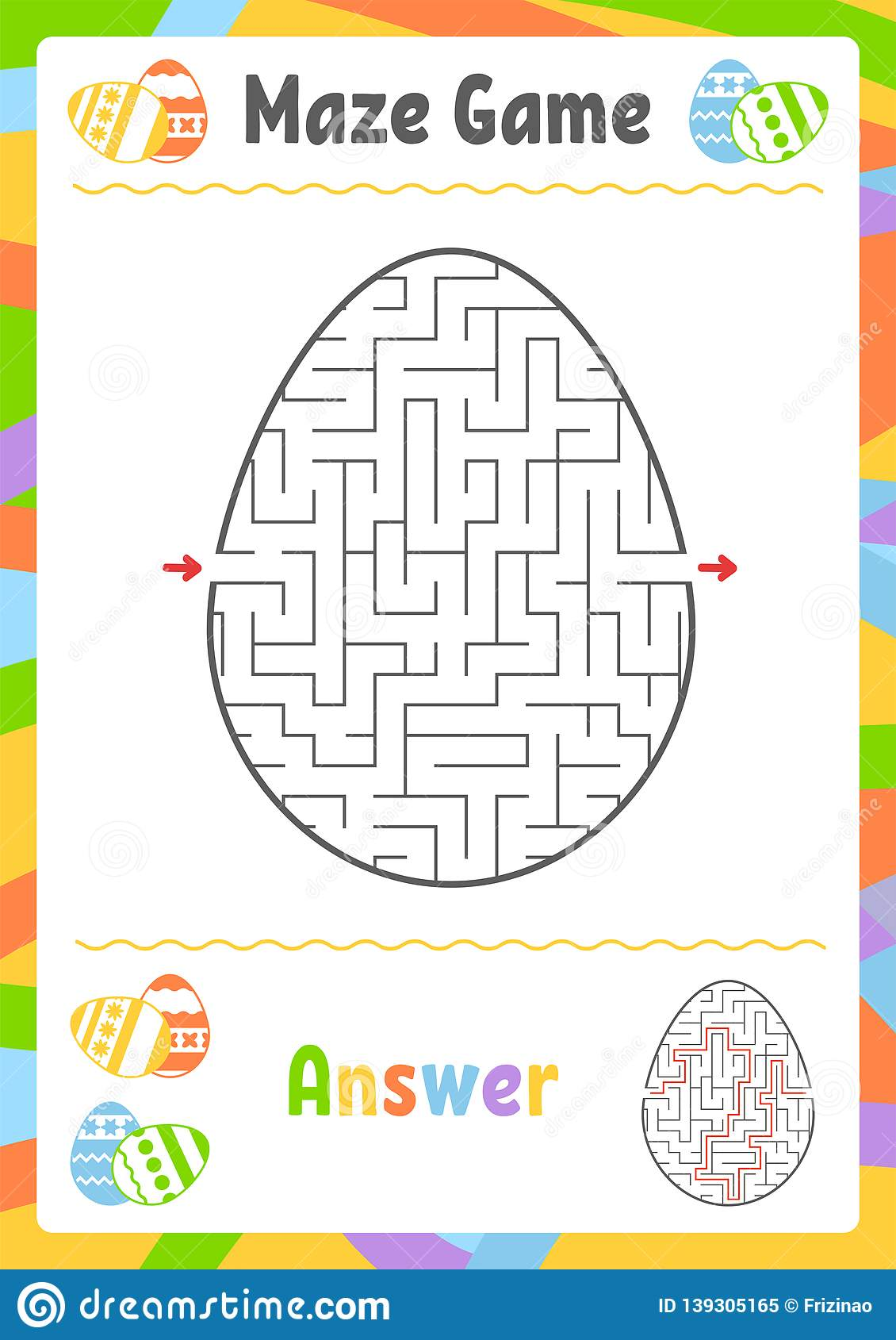 Black Oval Labyrinth Kids Worksheets Activity Page Game