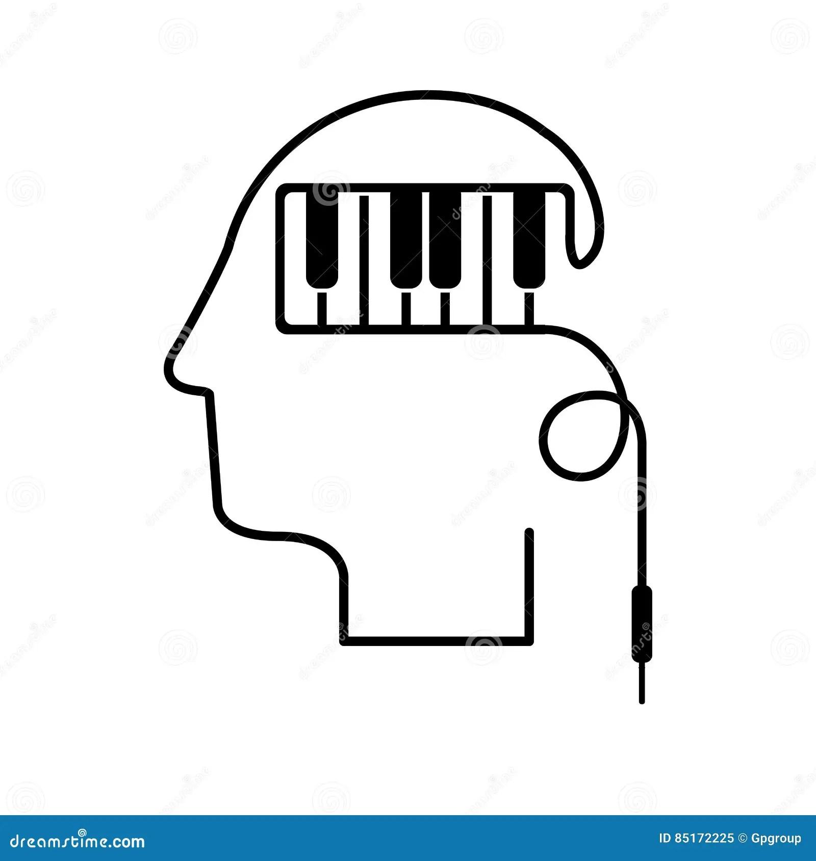 Piano In Silhouette Vector Illustration