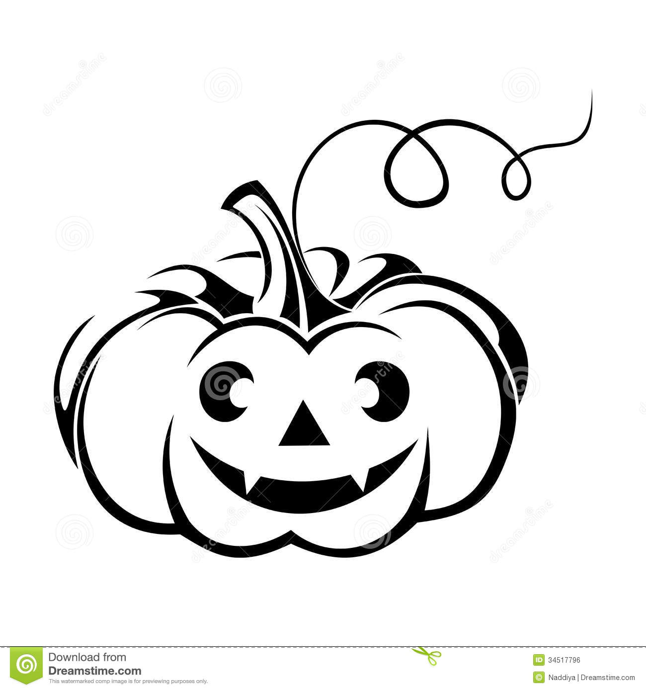 Black Silhouette Of Jack O Lantern Halloween Pump Stock