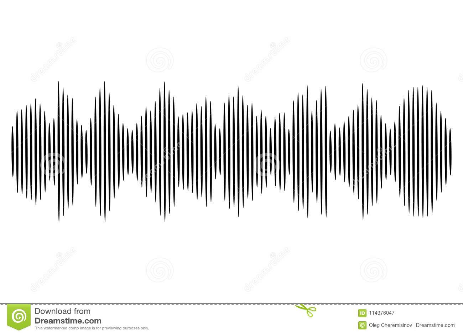 Black Sound Wave Vector Audio Technology Illustration