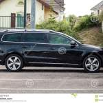 Black Volkswagen Passat On Side View Parked In The Street Editorial Stock Photo Image Of Model Metal 120593508